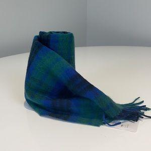 Nordstrom Cashmere Blue and Green Fringe Scarf